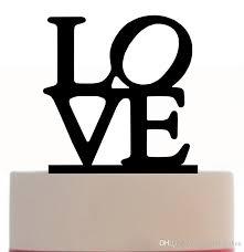 love letter cheap wedding cake topper wholesale factory drop ship