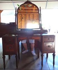 antique vanity refinished in french vanilla hometalk
