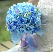 wedding flowers hertfordshire beautiful pe wedding bouquet blue artificial flowers