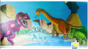 hand painted dinosaurs mural youtube hand painted dinosaurs mural no bare wall