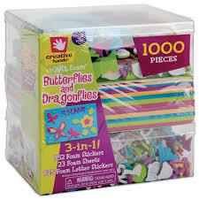 fibre craft 3 in 1 foam kit butterflies dragons 1000 pcs