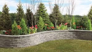 garden edge wall concrete curved ledgewall shaw brick