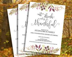 thanksgiving invite etsy