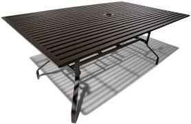 strathwood falkner 72 inch dining table with umbrella hole patio