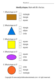 shapes worksheets for preschool and kindergarten
