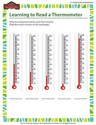 reading a thermometer worksheet worksheets