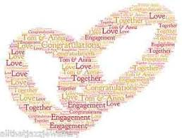 Wedding Engagement Congratulations Personalised Word Art Print Congratulations Wedding Engagement