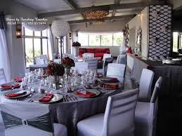 brilliant red black and silver wedding decorations spectacular