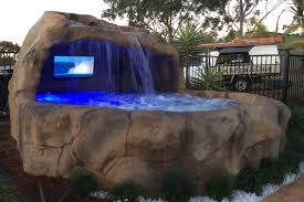 Exhibiting Our Rock Spas At Gympie Muster Rock Spa And Caves - Backyard spa designs