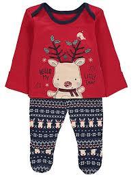 reindeer pyjamas baby george