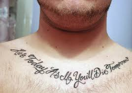 29 collar bone tattoos for men
