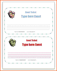 12 microsoft word ticket template survey template words
