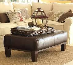 large leather ottoman coffee table u2013 fieldofscreams