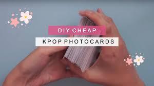 k che diy diy kpop photo cards 200 cards for 6