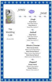 Wedding Menu Template 7 Free Menu Templates For Word Procedure Template Sample