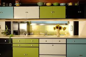 colourful kitchen cabinets steven s mondrian kitchen retro renovation