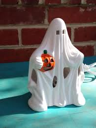 ceramic ghost light halloween ghost lamp vintage halloween
