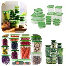 Storage Containers South Africa - stayfresh 34 piece storage containers clear with green lids