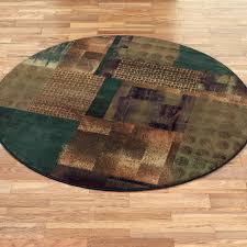 contempo block round area rugs