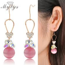 earrings for school mytys 2018 new fashion school delicate girlish pink