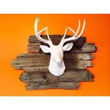 white deer head décor unique resin stag sculpture faux deer
