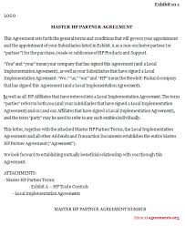 master hp partner agreement sample master hp partner agreement