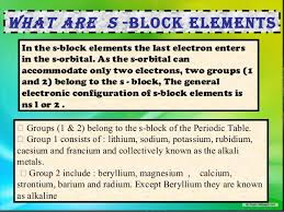 Blocks On The Periodic Table S Block Elements Class 11 Chemistry