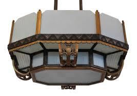 Period Pendant Lighting Bronze And Iron Art Deco Period Pendant Light Olde Good Things
