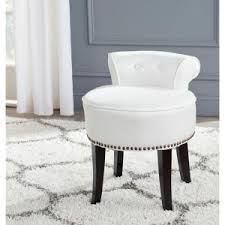 vanity chair with skirt home decorators collection valencia 19 5 in vanity stool in faux