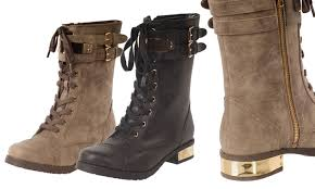 womens combat boots target s lace up combat boots groupon goods