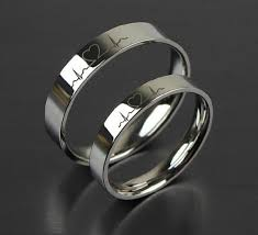 rings wedding 1pcs free engraving purple titanium rings sets token
