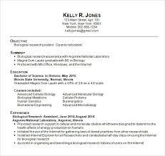Microbiologist Resume Sample by Sample College Resume 8 Free Samples Examples Format