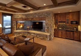 Greatroom Rustic Great Room Home Design Ideas