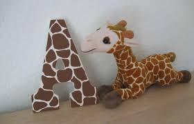 Giraffe Print Home Decor Giraffe Print 9 Inch Painted Mdf Wooden Wall Letters Nursery
