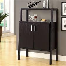 Bar Hutch Cabinet Kitchen Furniture Wine Storage Bar Cabinet Brown Ceramic Floor
