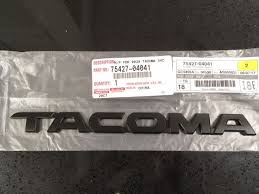 toyota trucks emblem toyota tacoma tailgate emblem ebay