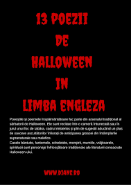 Halloween Witch Poem Poezii De Halloween In Limba Engleza Halloween Poetry Diane Ro