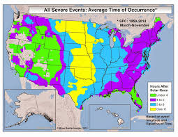 Map Equation Brian B U0027s Climate Blog Severe Weather Time Of Day
