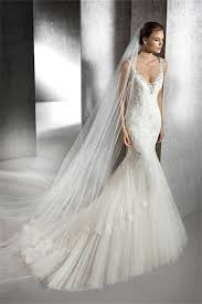 beaded wedding dresses mermaid v neck backless tulle lace beaded wedding dress