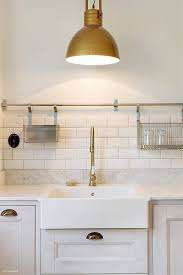 Best Carrara Marble With Brass Images On Pinterest Home - Brass kitchen sinks