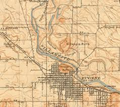 map of oregon eugene map resources uo libraries