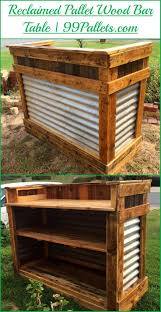 diy reclaimed pallet wood bar table wood bars pallet wood and