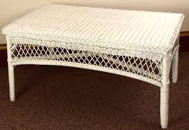 Wicker Accent Table Incredible Wicker Side Table With White Wicker Coffee Table Home