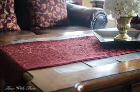 Coffee Table Runners Coffee Table Runner Easy Sewing Tutorial Time With Thea