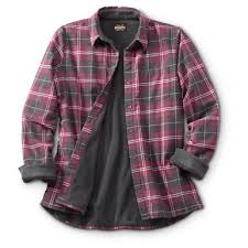 Flannel Shirts Guide Gear S Fleece Lined Flannel Shirt 641433 Shirts