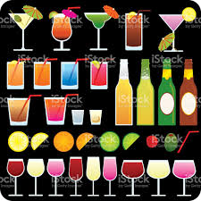 Party Drink Icons On Black Background Stock Vector Art 121397869