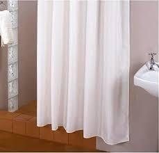 überlänge textil duschvorhang weiss 200x220 cm inkl duschringe