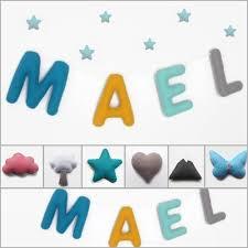 lettre decorative pour chambre b guirlande prénom décorative en feutrine pour chambre de bébé