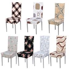 Dining Chair Seat Removable Chair Cover Stretch Elastic Slipcovers Modern Minimalist