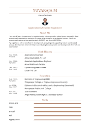 System Engineer Resume Sample by Applications Engineer Resume Samples Visualcv Resume Samples